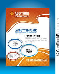 Flyer design or brochure