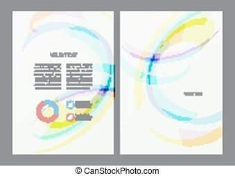 Flyer design template - Abstract modern bright multicolored...