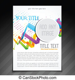flyer design - vector flyer brochure template design