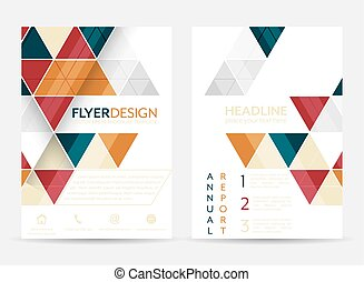 Flyer design with geometric pattern. Corporate banner or...