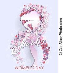flyer, feestje, internationaal, dag, celebration., vrouwen