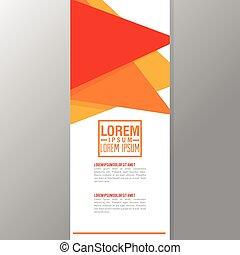 Flyer Headline design. Paper icon. Colorful design - Flyer...