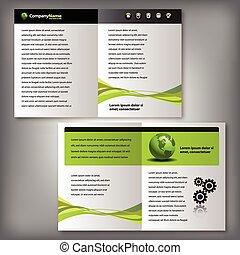 flyer, informatieboekje , zakelijk, mal