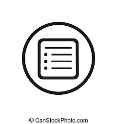 Flyer line icon with a circle on a white background