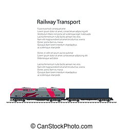 Flyer Locomotive with Cargo Container
