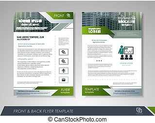 Flyer magazine cover brochure business - Front and back page...