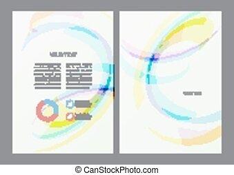 flyer, ontwerp, mal
