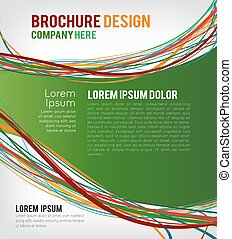Flyer or brochure template, abstract green design