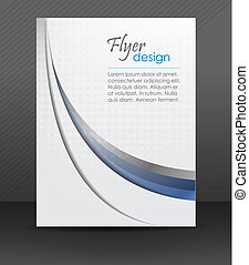 Flyer or cover design - Abstract flyer or cover design with...