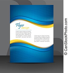 Flyer or cover design - Business flyer template or corporate...