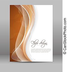 Flyer or cover design - Business flyer template, vector...
