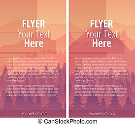 Flyer or Cover Design, Vector Illustration
