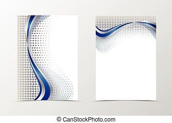 Flyer template design. Abstract flyer template vector ...