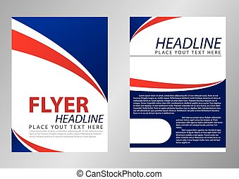 Flyer template design for corporate
