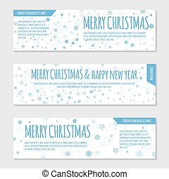 Flyer template with snowflakes
