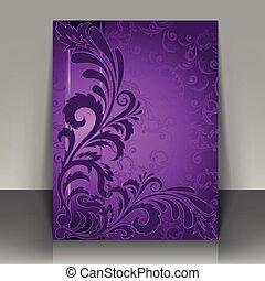 flyer, viooltje