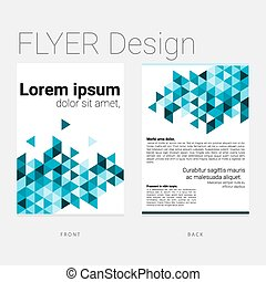 Flyer with abstract polygon backgro