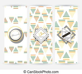 Flyer with geometric patterns . Brochure modern style