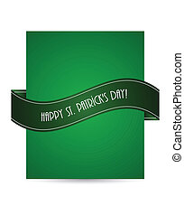 flyer with St.Patrick day design