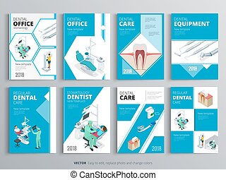 Flyers for Health and Medical concept. Hygiene template of flyear, magazines, posters, book cover, banners. Clinic infographic concept background. Layout dentistry illustrations modern pages