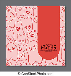 Flyers with Funny faces, cartoon-style on background. It can be used as invitation or card.