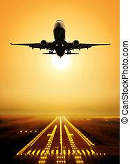 flyga, landningsbana