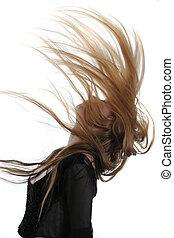 flygande hår