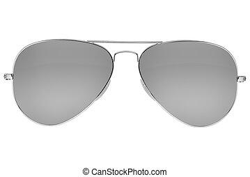 flygare, solglasögon, isolerat