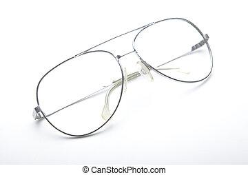 flygare, solglasögon, utan, linser