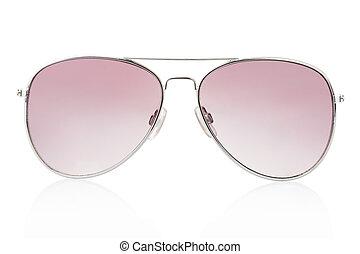 flygare, solglasögon, vita