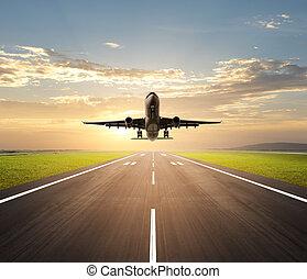 flygmaskin landa