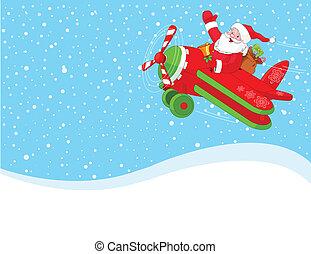 flygning, airplane, jultomten