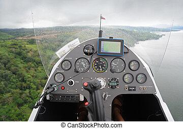 flygning, autogyro, instrumentbräda