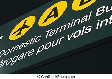 flygplats, signage