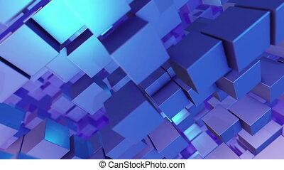 """""""Flying 3D design columns in a diagonal shot """" - """"An op art..."""