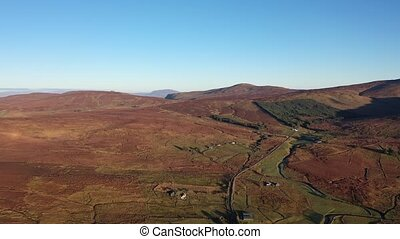 Flying above Crove in County Donegal - Ireland.