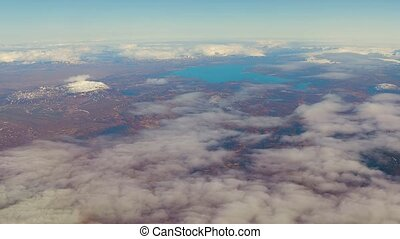 Flying above Iceland - Air journey along Iceland south coast