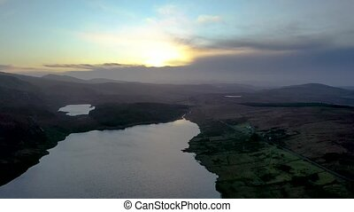 Flying above Lough EA between Ballybofey and Glenties in Donegal - Ireland
