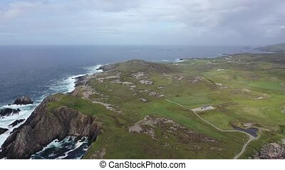 Flying above Malin Head in County Donegal - Ireland.
