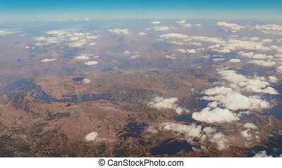 Flying above Middle east landscapes - Air journey above the...