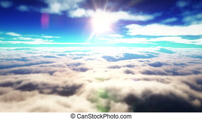 flying above the clouds 4k