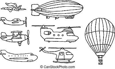 Flying / Air vehicles set
