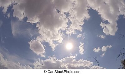 flying airplane in the sky in the background of the sun