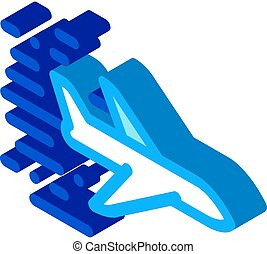 Flying Airplane isometric icon vector illustration