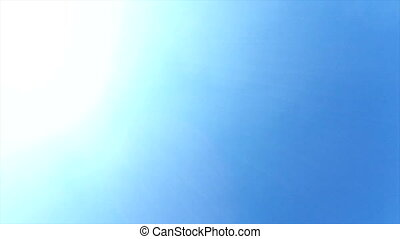 Flying airplane over head in the sky