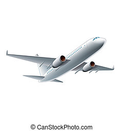 Flying airplane vector illustration - Flying airplane...