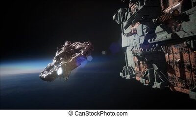 Flying an Animated Space Station