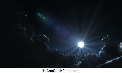flying at night 4k
