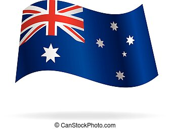 flying australian flag vector