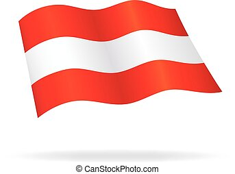 flying austrian flag Austria silk vector